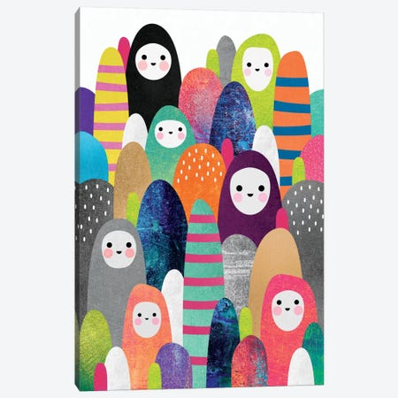 Pebble Spirits I Canvas Print #ELF83} by Elisabeth Fredriksson Art Print