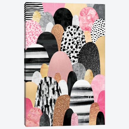 Pink Pebbles Canvas Print #ELF85} by Elisabeth Fredriksson Canvas Art