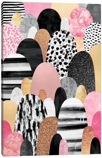 Pink Pebbles Canvas Art Print