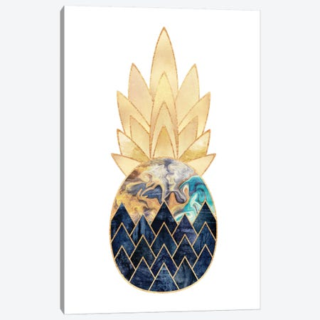 Precious Pineapple I Canvas Print #ELF87} by Elisabeth Fredriksson Canvas Artwork