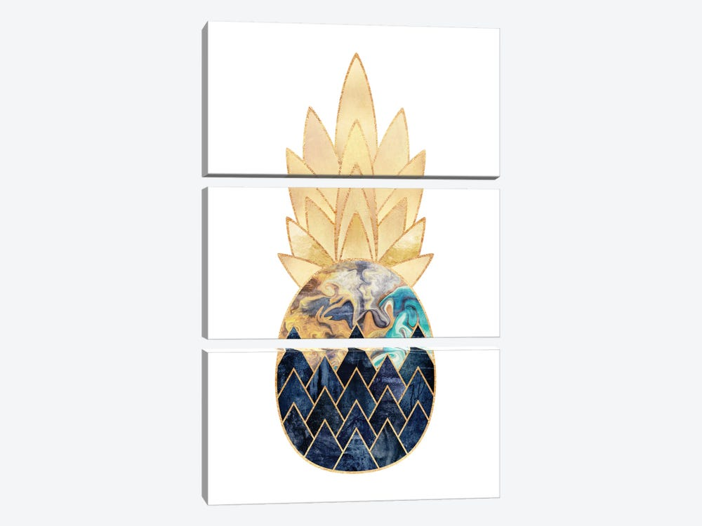 Precious Pineapple I by Elisabeth Fredriksson 3-piece Canvas Artwork