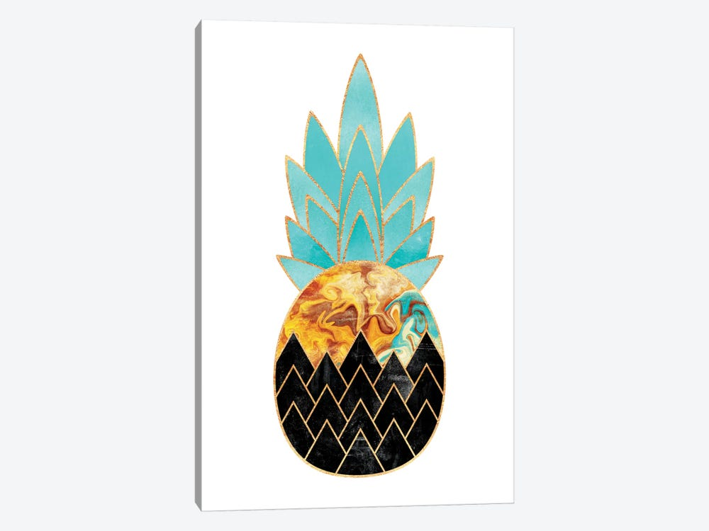 Precious Pineapple III by Elisabeth Fredriksson 1-piece Canvas Wall Art