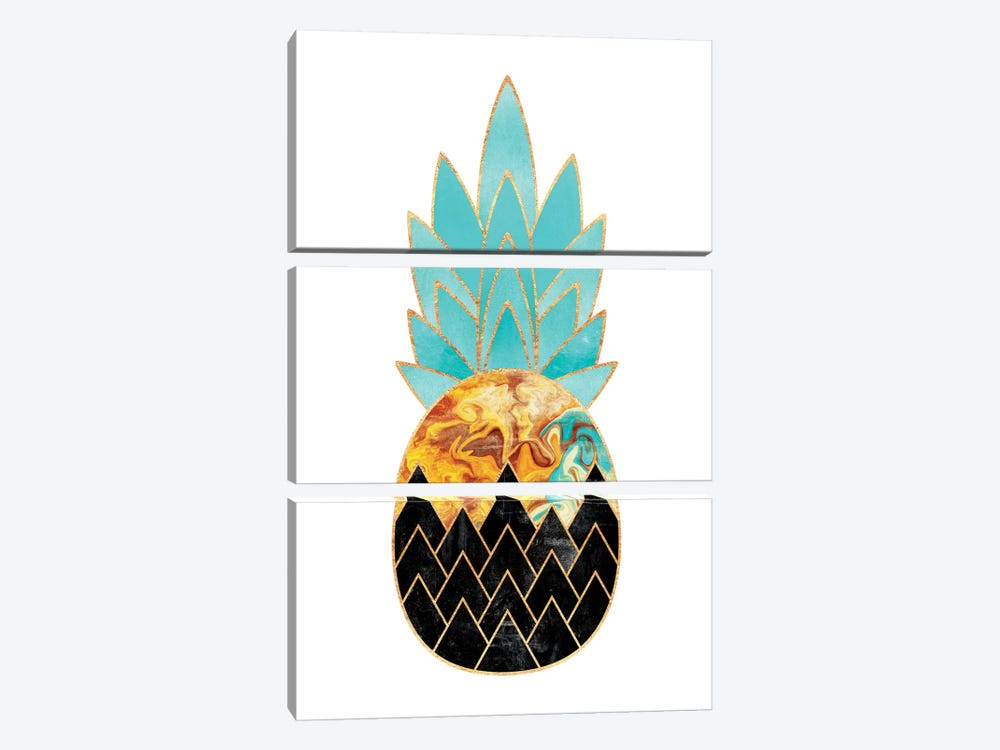 Precious Pineapple III by Elisabeth Fredriksson 3-piece Canvas Artwork