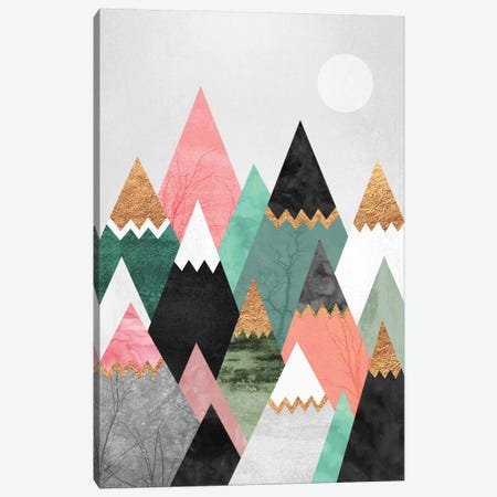 Pretty Mountains Canvas Print #ELF92} by Elisabeth Fredriksson Canvas Artwork