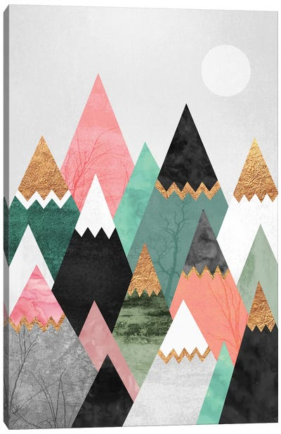 Pretty Mountains Canvas Print #ELF92