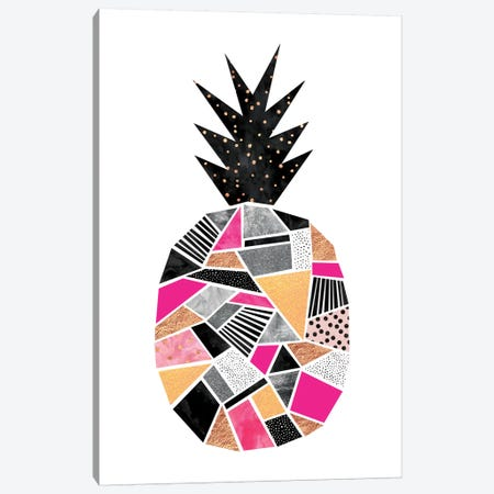 Pretty Pineapple Canvas Print #ELF93} by Elisabeth Fredriksson Canvas Art