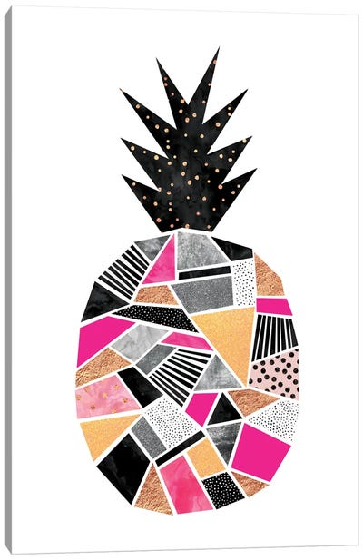 Pretty Pineapple Canvas Print #ELF93