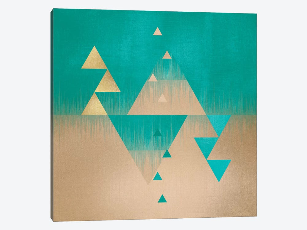 Pyramids by Elisabeth Fredriksson 1-piece Canvas Wall Art