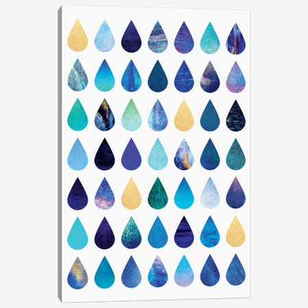 Rain Canvas Print #ELF95} by Elisabeth Fredriksson Art Print