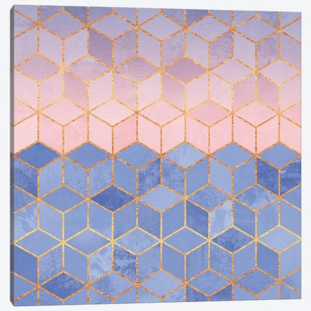 Rose Quartz And Serenity Cubes Canvas Print #ELF96} by Elisabeth Fredriksson Canvas Art Print