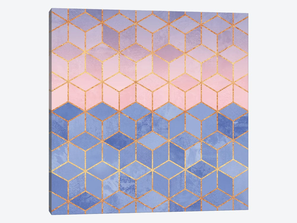Rose Quartz And Serenity Cubes by Elisabeth Fredriksson 1-piece Canvas Wall Art