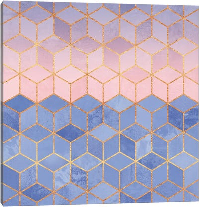 Rose Quartz And Serenity Cubes Canvas Art Print
