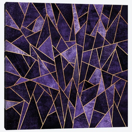 Shattered Amethyst 3-Piece Canvas #ELF98} by Elisabeth Fredriksson Canvas Wall Art