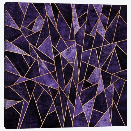 Shattered Amethyst Canvas Print #ELF98} by Elisabeth Fredriksson Canvas Wall Art