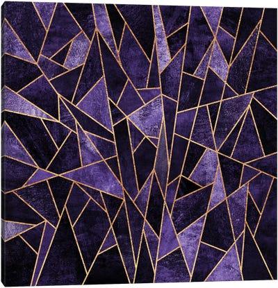 Shattered Amethyst Canvas Art Print