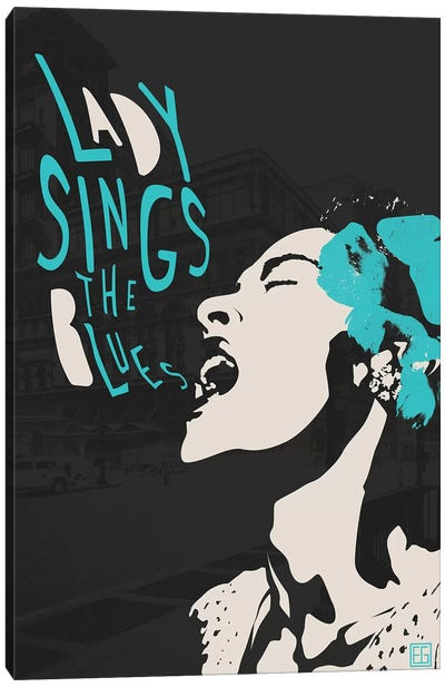 Billie Holiday II Canvas Art Print