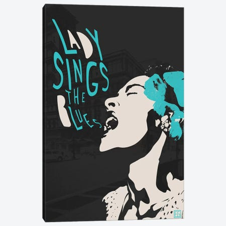 Billie Holiday II Canvas Print #ELG1} by Elliot Griffin Canvas Wall Art