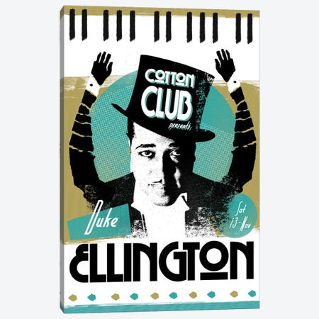 Duke Ellington Canvas Print #ELG2} by Elliot Griffin Canvas Art