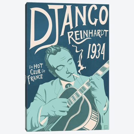 Django Reinhardt Canvas Print #ELG3} by Elliot Griffin Canvas Artwork