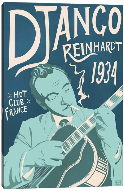 Django Reinhardt Canvas Art Print