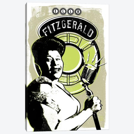 Ella Fitzgerald Canvas Print #ELG4} by Elliot Griffin Canvas Print