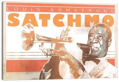 Louis Armstrong Canvas Art Print