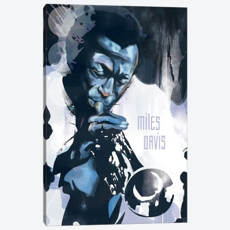 Miles Davis Canvas Print #ELG6} by Elliot Griffin Canvas Art Print