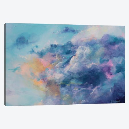 In The Clouds Canvas Print #ELH17} by Emily Louise Heard Art Print