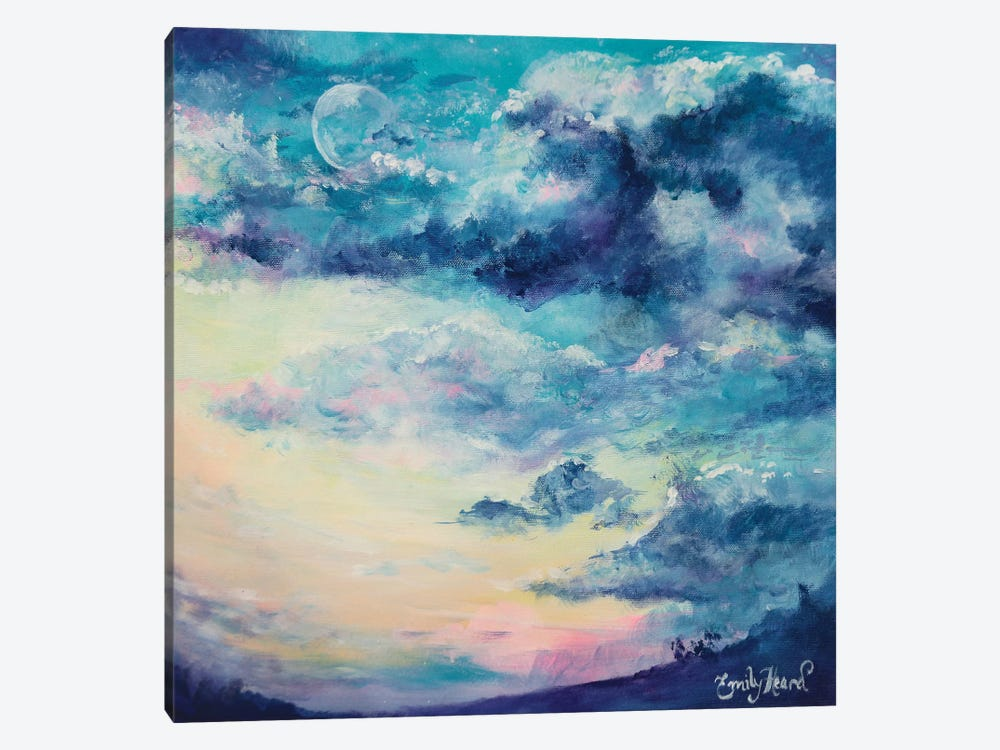 Lunar  by Emily Louise Heard 1-piece Canvas Wall Art