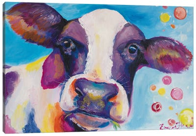 Mrs Cow Canvas Art Print
