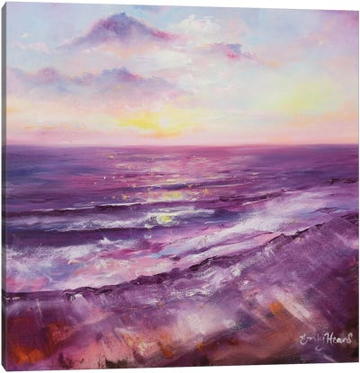 Violet Ocean  Canvas Art Print