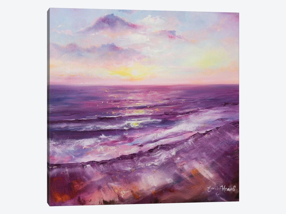 Violet Ocean  by Emily Louise Heard 1-piece Canvas Art