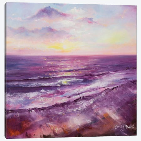 Violet Ocean  Canvas Print #ELH37} by Emily Louise Heard Art Print