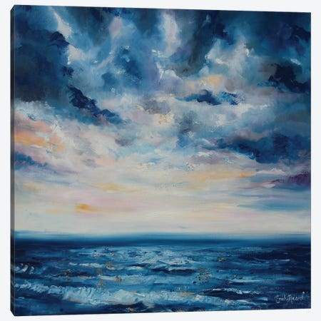 Deep Blue  Canvas Print #ELH7} by Emily Louise Heard Canvas Artwork