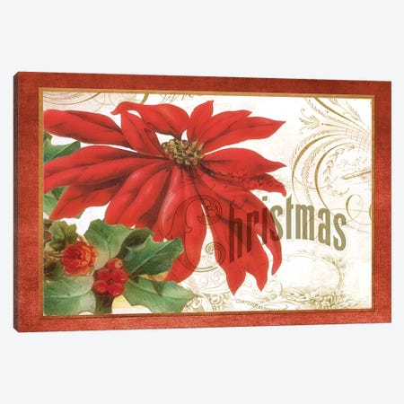 Poinsettia Canvas Print #ELJ4} by Elizabeth Jordan Canvas Art