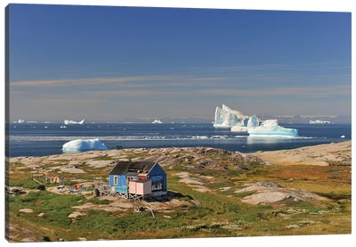 A Hut With A View - Greenland Canvas Art Print