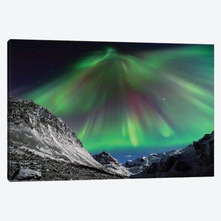 Aurora Borealis Corona 3-Piece Canvas #ELM174} by Elmar Weiss Canvas Art Print