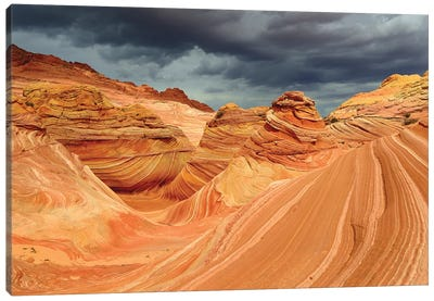 Bad Weather Approaching In The Wave Canvas Art Print