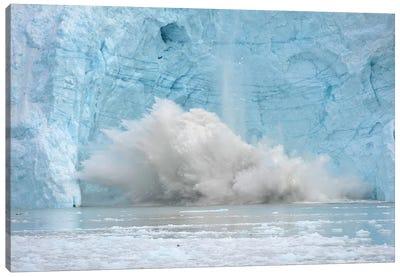 Calving Glacier In Greenland Canvas Art Print