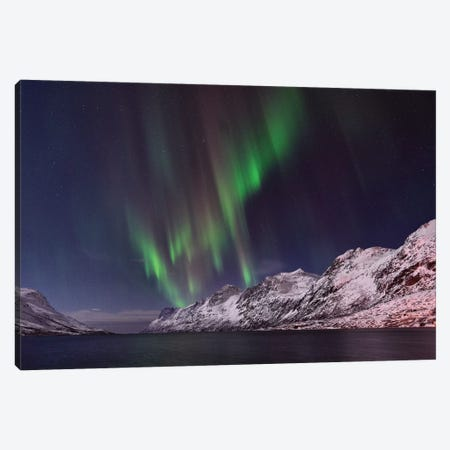 Fjord Aurora Canvas Print #ELM232} by Elmar Weiss Art Print