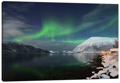 Polar Lights In Northern Norway. Canvas Art Print