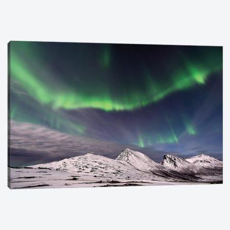 Polar Lights Canvas Print #ELM344} by Elmar Weiss Canvas Art