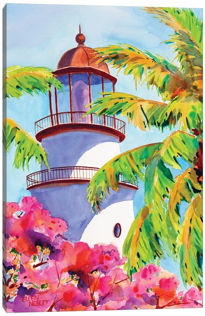 Key West Lighthouse Canvas Art Print