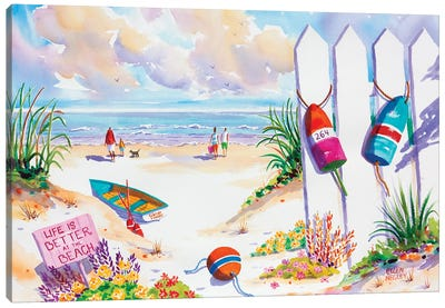Life Is Better At The Beach Canvas Art Print
