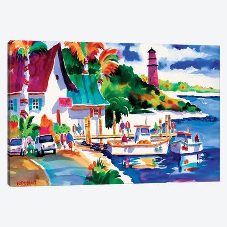Dockside Dreaming II Canvas Print #ELN12} by Ellen Negley Canvas Art