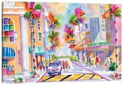 Edison Theater Fort Myers Canvas Art Print