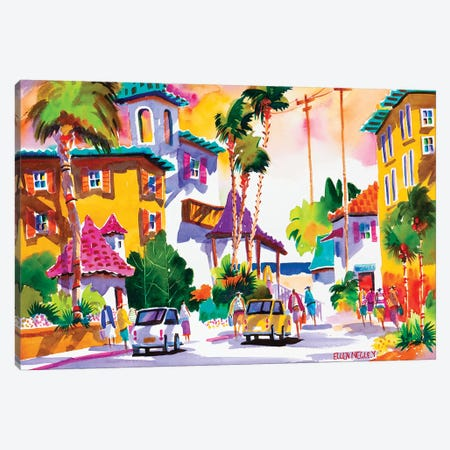 All Day Happy Hour Canvas Print #ELN1} by Ellen Negley Canvas Print