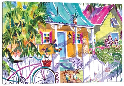 Key Lime Cottage I Canvas Art Print