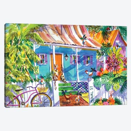 Key Lime Cottage II Canvas Print #ELN27} by Ellen Negley Canvas Artwork