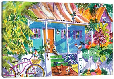 Key Lime Cottage II Canvas Art Print